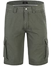 Krumba Men's Cotton Pigment Dyeing Outdoor Casual Cargo Shorts