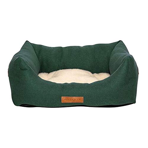 Ralph & Co Richmond Stonewashed Fabric Nest Dog Bed (S) (Khaki Green)