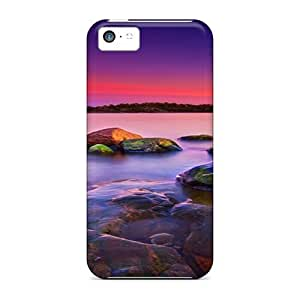 Case Cover, Fashionable Iphone 5c Case - Abstract Rocks