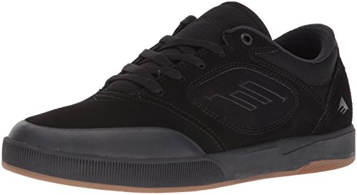 Emerica Men's Dissent Skate Shoe, Black/Black, 10.5 Medium (Lifestyle Skate Shoes)