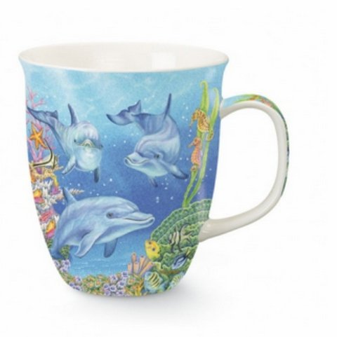 Harbor Mug - Dolphin Cove - Dolphins Of The Ca