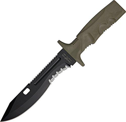 (Fox Spartan 2 Leonida Combat Fixed Blade Knife,7.125in,Black N690Co Cobalt Vanadium Stainles )