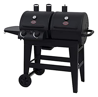 Char-Griller 5030 2-Burner Gas & Charcoal Grill Dual Function, Black from Char-Griller