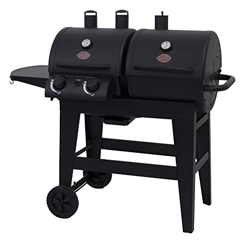 Char-Griller 5030 2-Burner Gas & Charcoal Grill Dual Function, Black (Gas Charcoal Smoker Grill)