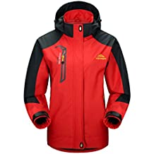 MAGCOMSEN Women's Hooded Softshell Outdoor Windproof Waterproof Mountain Jacket