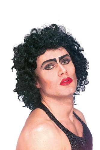 [Forum The Rocky Horror Picture Show Frank And Furter Wig, Black, One Size] (Male Costumes Rocky Horror)