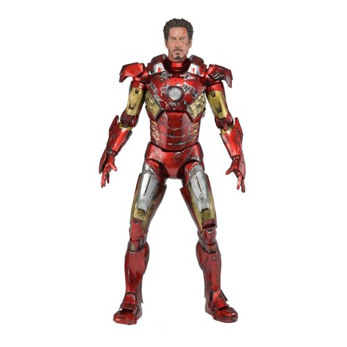 NECA Avengers Battle Damaged Action
