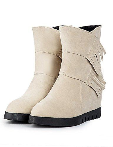Zapatos cn43 uk8 Punta la 5 us10 Marrón Vellón eu42 Vestido Beige brown mujer eu42 Moda 5 us10 Botas Cuña Botas uk8 Tacón Negro 5 Redonda cn34 Casual uk3 brown us5 beige eu35 a XZZ de 5 c dqXSBd