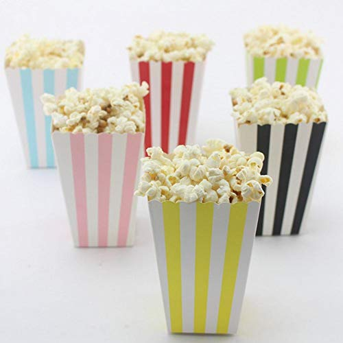Flamingo Bonut Popcorn Cups 6pcs/lot Popcorn Cup Disposable Cups For Party Corn Favor Bags Birthday Party Trays For Candy Snack Pink
