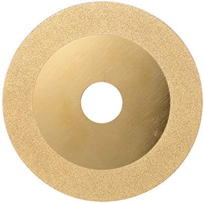uxcell ダイヤモンドカッターホイール メタル製 ゴールドトーン 100mmモンド鋸刃径