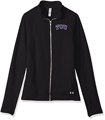 Terry Frog - Under Armour NCAA TCU Horned Frogs Women's Terry Full-Zip Jacket, Small, Black