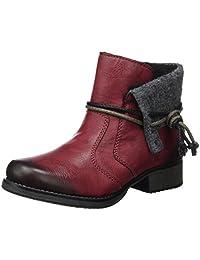 Rieker Women Ankle Boots red, (wine/granit) Y9791-35
