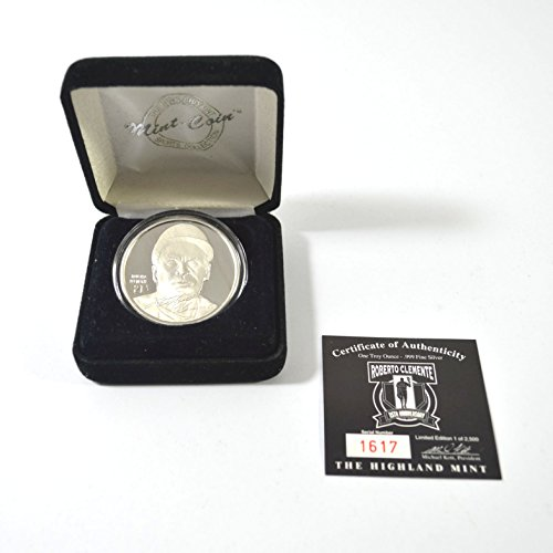 Highland Mint Roberto Clemente One Troy Ounce Silver Coin # out of 2,500