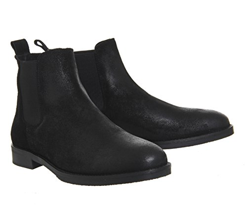 Cage Chelsea Office Black Waxy Suede Boots Fqddz
