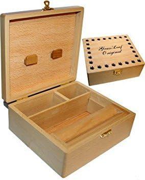Grassleaf – Caja para tabaco (madera, tamaño grande): Amazon.es: Hogar