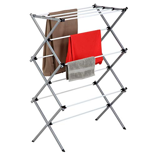 Honey-Can-Do Large Folding Drying Rack, Silver/White (Silver Cross 3 In 1 Travel System)
