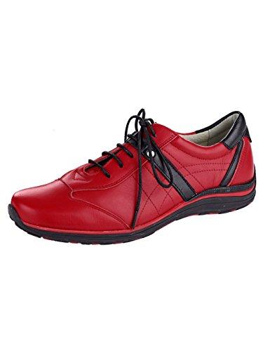 KLiNGEL Schnürschuh Damen Rot aus Leder weichem rzzvqYwf