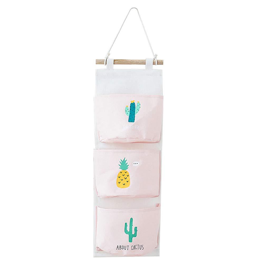 Hosaire 1x Bolsa de Almacenamiento Colgante Serie Cactus,Bolsas de algod/ón en la Bolsa de la Tienda de Pared Colgando,Accesorios de ba/ño 56 20CM