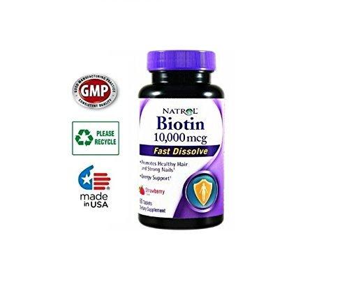 Amazon.com : Vitaminas Para La Perdida Del Cabello- 10, 000mcg - 60 Tabletas - Crecen y Fortalecen El Pelo : Everything Else