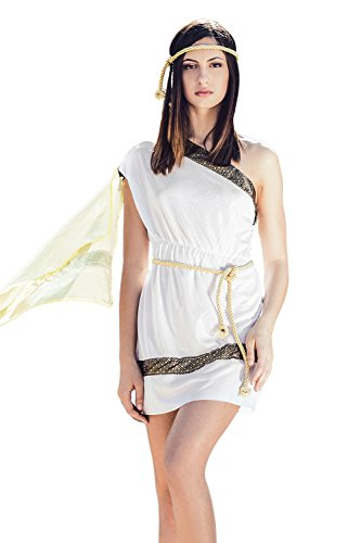 Black Toga Costumes (Adult Women Greek Goddess Costume Olympic Role Play Greek Beauty Toga Dress Up (Small/Medium, White, Gold, Black))