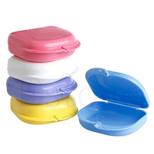 SimpleLife Zahnbox//Gebissbox-Dental Orthodontic Retainer Prothese Aufbewahrungskoffer Box Mundschutzbeh/älter 8cmx7.5cm