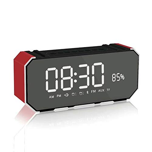 xingganglengyin Mirror Bluetooth Speaker Portable Multifunction Sound Blaster with Alarm Clock Insert U Disk Dual Speaker Subwoofer l Bluetooth Speaker by xingganglengyin (Image #5)