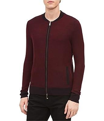 Calvin Klein Men's Merino Sweater Full Zip