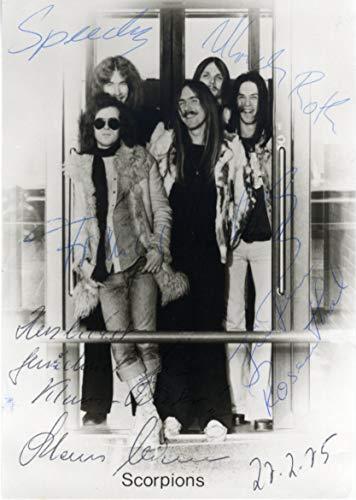 Scorpions ROCK BAND autograph, signed vintage -