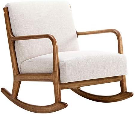 XUE Rocking Chair, Fauteuil Arm Chaise Patio Salon Jardin ...