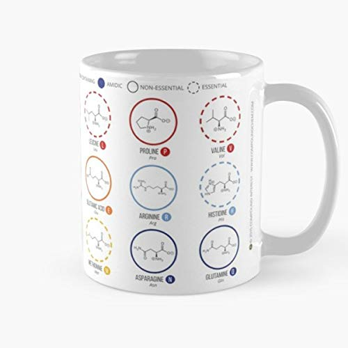 Best Gift Mugs Amino Acids Mug Coffee For Gifts Cup Women Tumbler Cups 11 15 Oz Best Personalized Gifts Science Chemistry Organic Biology