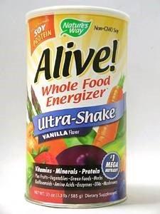 Alive! Ultra-Shake Vanilla Flavor 20 oz - Alive Multivitamin Ultra Shake