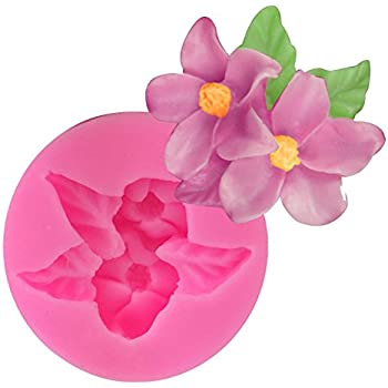 Drawihi Silicone Mold 3D Lotus Shape Fondant Mold Cake Mould Soap Chocolate Mold Candy Cup Cake Mold Baking Decorating Tool
