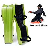 Sled Legs Wearable Snow Sleds – Fun Winter Accessories with Leg Support – Family Friendly Winter Activities – Exciting Winter Fun in The Snow (Action Green, Small)