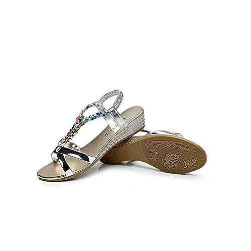 Scothen Chaussures Femme Sandales Talon Compensé SoiréE  Gvv3c