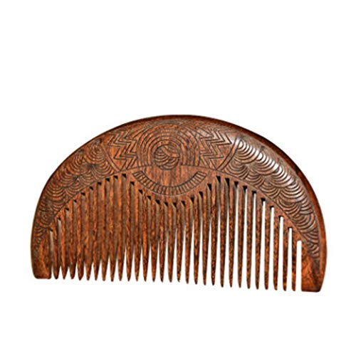 TraveT Natural Anti-Static Sandalwood Wooden Hair Comb Double-Sided Carved Comb for Men...