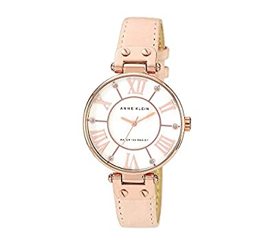 Anne Klein Women's Rose Goldtone Oversized Dial Strap Watch