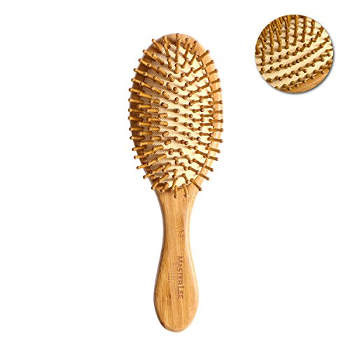 ROSENICE Cepillo de pelo natural de bambu peine cepillo de cuero cabelludo masaje para el cuidado del cabello