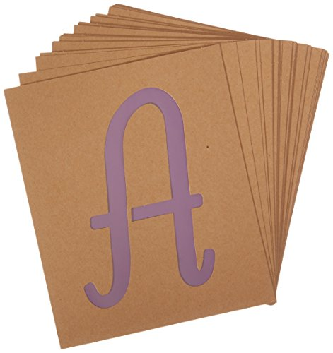 Folk Art Stencils (Plaid PLA50322 Stencil Folk-Art Paper Alphabet & Monogram Italic, 7