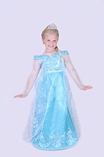 [Disneyland Paris Elsa Frozen Costume Dress up Girls Age 12] (Blues Clues Halloween Costumes)