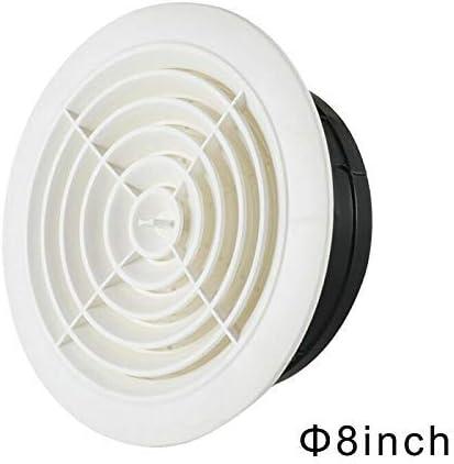 Blanco 3 Inch Lanbowo Redondo Ventilaci/ón ABS Trampilla Cubierta Rejilla Ajustable Escape V/álvula para Ba/ño Oficina Ventilaci/ón