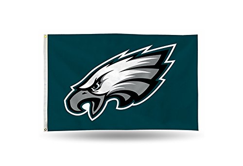 Rico NFL Philadelphia Eagles 3-Foot by 5-Foot Single Sided Banner Flag with Grommets