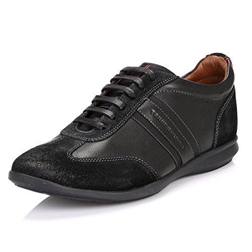 Tommy Hilfiger Mens Black Oliver 14C Leather Sneakers