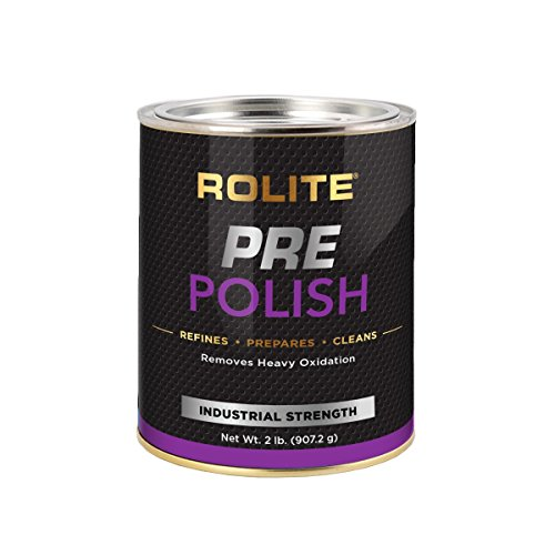Rolite Pre-Polish (2lb) for Heavily Oxidized, Stained, Discolored and Corroded - Aluminum, Brass, Bronze, Chrome, Copper, Nickel, Paint & Gel-Coated Fiberglass and Stainless ()