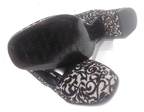 Tosca Blu - Zapatos de vestir de tela para mujer Negro negro