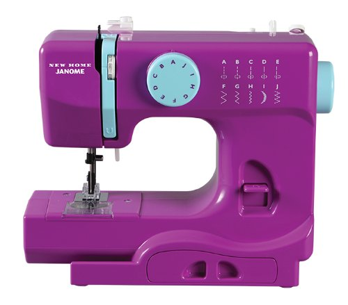 Janome Purple Thunder Basic, Easy-to-Use, 10-Stitch Portable, Compact Sewing Machine with Free Arm only 5 pounds (Janome Sewing Kit)