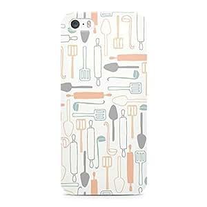 Loud Universe Bakery Kitchen Chef Pattern Durable Sleek Wrap Around iPhone 5s Case - White