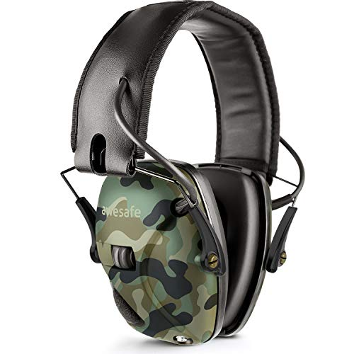 Awesafe Electronic Shooting Earmuff, Awesafe GF01 Noise Reduction Sound Amplification Electronic Safety Ear Muffs, Ear Protection, NRR 22 dB, Ideal for Shooting and Hunting ... Camon
