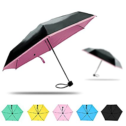 Amazon.com: Vivona HN-KU3 Compact Travel Umbrella Light Weight Tiny Waterproof Pocket UV Rain Umbrellas - (Color: Yellow): Home & Kitchen