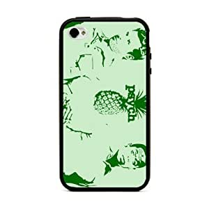 Psych Pc Back Plus Soft Black Tpu Edges Hard Case Cover for iPhone 6 (4.7 inch)