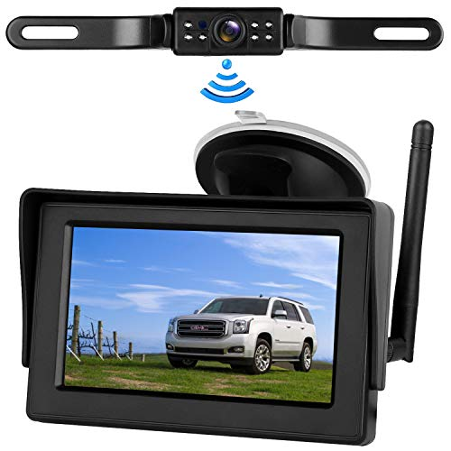 Digital Wireless Backup Camera &4.3'' Monitor kit RV/Car/Trailer/Truck/Motorhome High-Speed Observation System IP68 Waterproof Rear/Side/Front View Continous/Reversing Use Guide Lines ON/Off ()